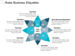 Rules Business Etiquettes Ppt Powerpoint Presentation Summary Professional Cpb