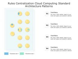 Rules Centralization Cloud Computing Standard Architecture Patterns Ppt Presentation Diagram