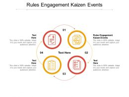 Rules Engagement Kaizen Events Ppt Powerpoint Presentation Gallery Example File Cpb