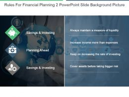 Rules For Financial Planning 2 Powerpoint Slide Background Picture