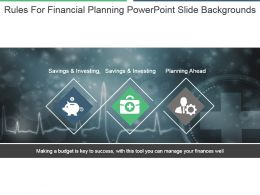 Rules For Financial Planning Powerpoint Slide Backgrounds