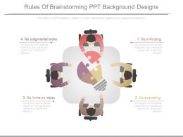 Rules Of Brainstorming Ppt Background Designs