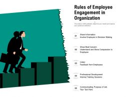 Rules Of Employee Engagement In Organization