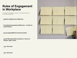 Rules Of Engagement In Workplace