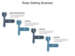Rules Starting Business Ppt Powerpoint Presentation Layouts Design Templates Cpb