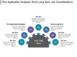Run Application Analyzer Short Long Term Job Considerations