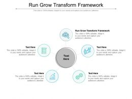 Run Grow Transform Framework Ppt Powerpoint Presentation Inspiration Guide Cpb