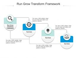 Run Grow Transform Framework Ppt Powerpoint Presentation Pictures Ideas Cpb