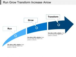 Run Grow Transform Increase Arrow