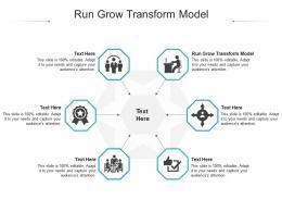 Run Grow Transform Model Ppt Powerpoint Presentation Ideas Objects Cpb