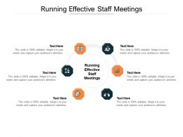 Running Effective Staff Meetings Ppt Powerpoint Presentation Inspiration Images Cpb
