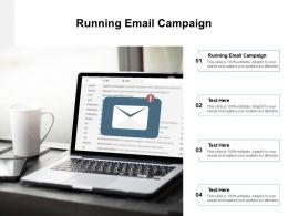 Running Email Campaign Ppt Powerpoint Presentation Professional Master Slide Cpb