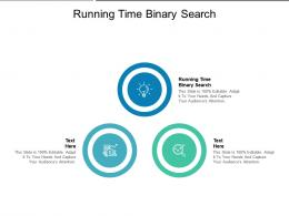 Running Time Binary Search Ppt Powerpoint Presentation Inspiration Slide Portrait Cpb