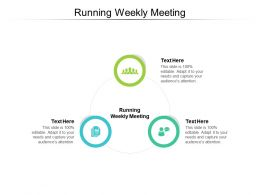 Running Weekly Meeting Ppt Powerpoint Presentation Summary Layout Cpb