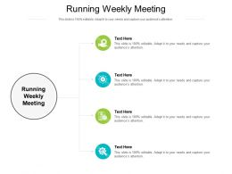 Running Weekly Meeting Ppt Powerpoint Presentation Templates Cpb