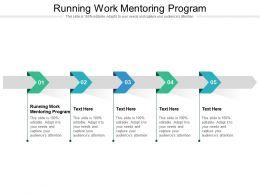 Running Work Mentoring Program Ppt Powerpoint Presentation Gallery Deck