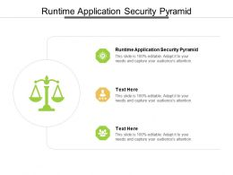 Runtime Application Security Pyramid Ppt Powerpoint Presentation Slides Ideas Cpb