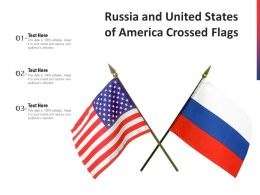 Russia And United States Of America Crossed Flags