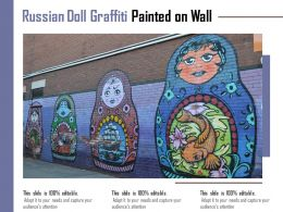 Russian Doll Graffiti Painted On Wall