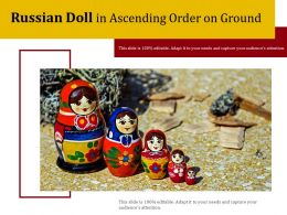 Russian Doll In Ascending Order On Ground