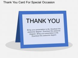 Rv Thank You Card For Special Occasion Flat Powerpoint Design