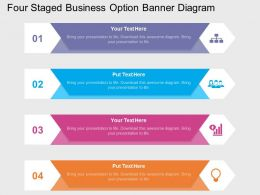 rw Four Staged Business Option Banner Diagram Flat Powerpoint Design