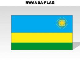 Rwanda Country Powerpoint Flags
