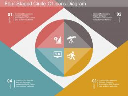 rx Four Staged Circle Of Icons Diagram Flat Powerpoint Design