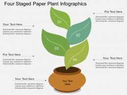 ry Four Staged Paper Plant Infographics Flat Powerpoint Design