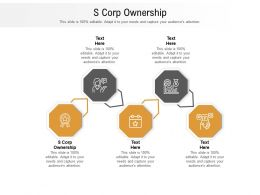 S Corp Ownership Ppt Powerpoint Presentation Show Pictures Cpb