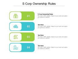 S Corp Ownership Rules Ppt Powerpoint Presentation Professional Design Templates Cpb