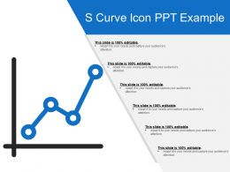 S Curve Icon Ppt Example