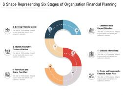 S Shape Representing Six Stages Of Organization Financial Planning