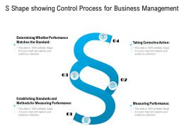 S Shape Showing Control Process For Business Management