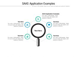 SAAS Application Examples Ppt Powerpoint Presentation Slides Gridlines Cpb