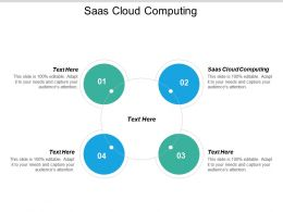 SAAS Cloud Computing Ppt Powerpoint Presentation Pictures Visuals Cpb