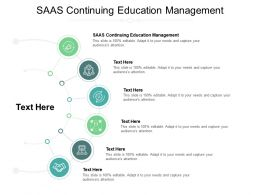 SAAS Continuing Education Management Ppt Powerpoint Presentation Pictures Summary Cpb