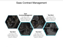 Saas Contract Management Ppt Powerpoint Presentation Gallery Model Cpb