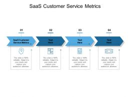 SaaS Customer Service Metrics Ppt Powerpoint Presentation Show Styles Cpb