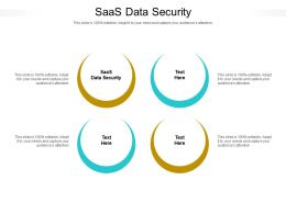 SaaS Data Security Ppt Powerpoint Presentation Pictures Tips Cpb