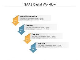 SAAS Digital Workflow Ppt Powerpoint Presentation Pictures Show Cpb