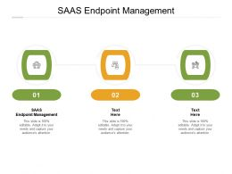 Saas Endpoint Management Ppt Powerpoint Presentation Model Professional Cpb