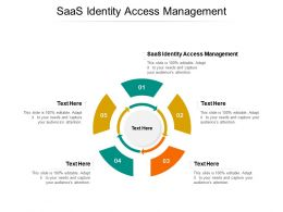 SaaS Identity Access Management Ppt Powerpoint Presentation Styles Graphics Cpb