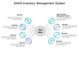 SAAS Inventory Management System Ppt Powerpoint Presentation Icon Skills Cpb