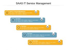 SAAS IT Service Management Ppt Powerpoint Presentation Gallery Slide Cpb