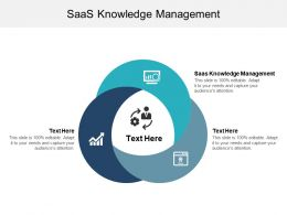 SAAS Knowledge Management Ppt Powerpoint Presentation Gallery Display Cpb