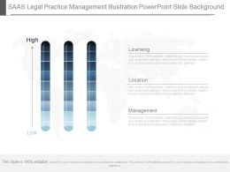 Saas Legal Practice Management Illustration Powerpoint Slide Background