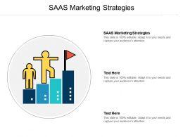 SAAS Marketing Strategies Ppt Powerpoint Presentation Infographics Visuals Cpb