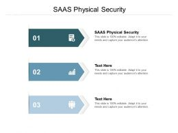 SAAS Physical Security Ppt Powerpoint Presentation Infographic Template Background Designs Cpb
