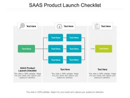 SAAS Product Launch Checklist Ppt Powerpoint Presentation Layouts Format Ideas Cpb